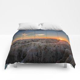 South Dakota Sunset - Dusk in the Badlands Comforters