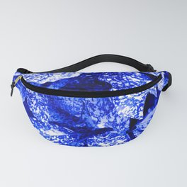 Speckled Blue & White Leaves Fanny Pack