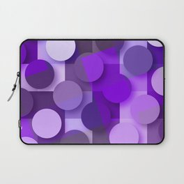 squares & dots violet Laptop Sleeve
