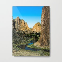 Rocks + River // Hiking Mountains Colorado Scenic View Landscape Photography Forest Backpacking Vibe Metal Print
