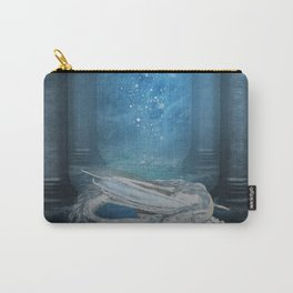 Awesome sleeping ice dragon Carry-All Pouch
