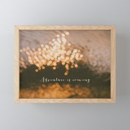 Golden Glow Framed Mini Art Print