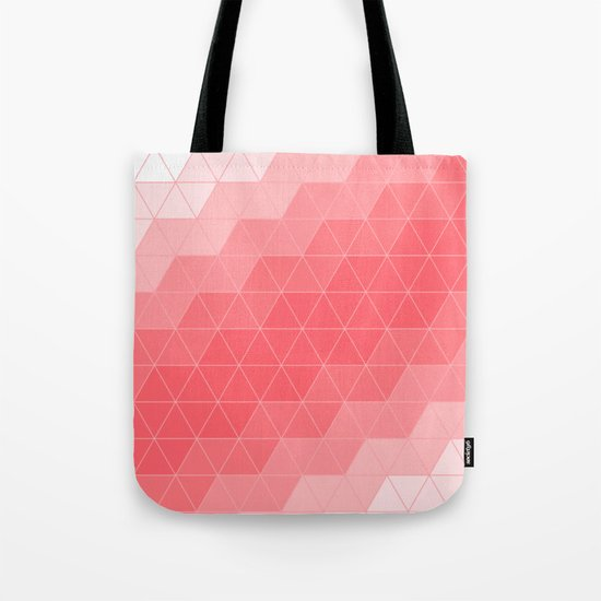 Triangle Coral Tote Bag