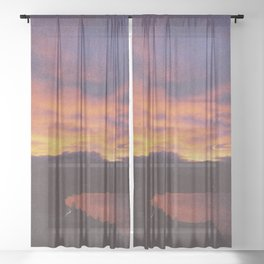 wake up & smell the campfire Sheer Curtain