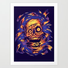 THE MUMMY'S REVENGE Art Print