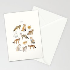 Foxes Stationery Cards