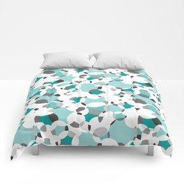 Circle-fiesta bluegreen-white Comforters