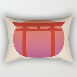 Red Japanese Torri Gate - Sunset - Zen - Japanese Minimal - Religious Gate - Calm  Rectangular Pillow