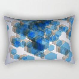 3D Hexagon Background Rectangular Pillow