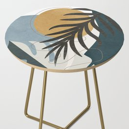 Abstract Tropical Art II Side Table