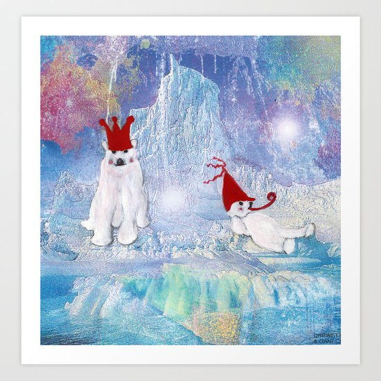 The Ice Party Art Print