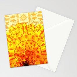 Morocco Oriental Flower Mosaic Gerbera yellow Stationery Cards