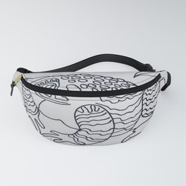 Bumpy Toad Black and White Fanny Pack