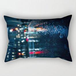 Cold City Lights Rectangular Pillow
