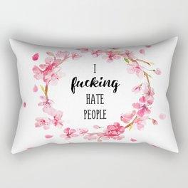 I hate people Flowers art Rectangular Pillow