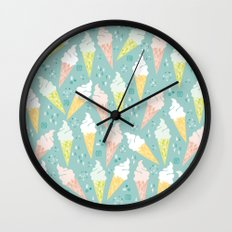 Ice Cream Cones Wall Clock