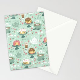 Pastel Cafe Mint Cream Stationery Cards