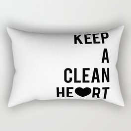 Typographic Quote Print In Black And White Rectangular Pillow