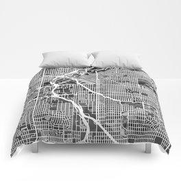 Denver Colorado Street Map Comforters