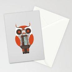 DJ Owl Stationery Cards