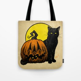 Still Life with Feline and Gourd Tote Bag