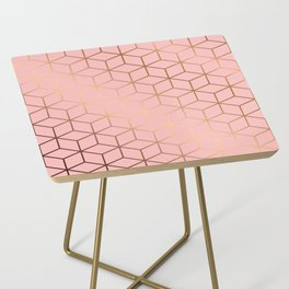Pink and Gold Geometry 011 Side Table