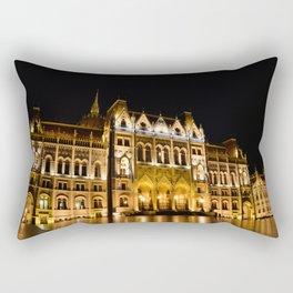 Parliament building in Budapest, capital of Hungary. Rectangular Pillow