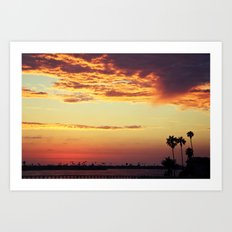 Goodbye sun Art Print