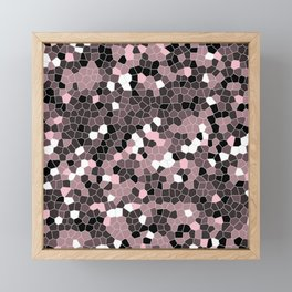 Pink Polycamo Framed Mini Art Print