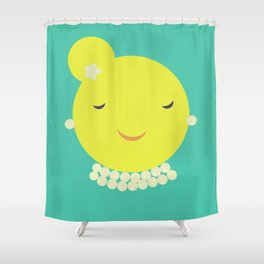 MISS SUNSHINE IN PEARLS Shower Curtain
