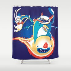 Monsteroid! Shower Curtain