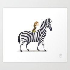 Wild Adventure - Zebra Art Print