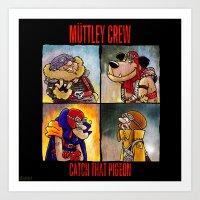 Muttley Crew : Catch that Pigeon  Art Print