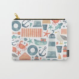 Nautical Watercolour Pattern! Carry-All Pouch
