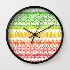 One Love Tribal {white} Wall Clock