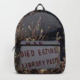 Unusual headstone Backpack