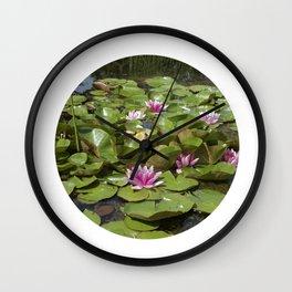 summer garden pond III Wall Clock