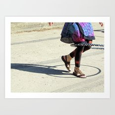 Dancing (Hula Hoop Series) Art Print