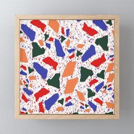 Multicolored Bold Terrazzo Pattern Framed Mini Art Print