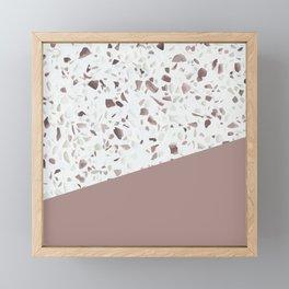 Terrazzo Texture Antique Pink #6 Framed Mini Art Print