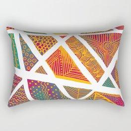 Geometric doodle pattern - multicolor Rectangular Pillow