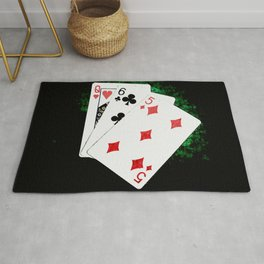 Blackjack Card Game, 21 Count, Queen Six Five Combination Rug