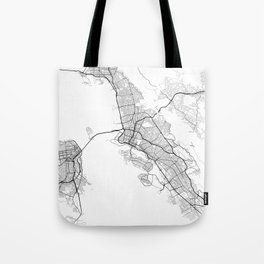 Minimal City Maps - Map Of Oakland, California, United States Tote Bag