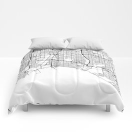 Minimal City Maps - Map Of Long Beach, California, United States Comforters