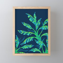 Paradise Leaves - Green Framed Mini Art Print