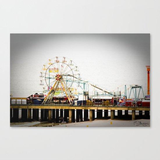 Steel Pier Canvas Print