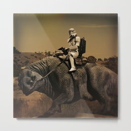 Horse Back Riding In The Desert Metal Print