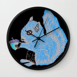 Squirrel in Colour Wall Clock