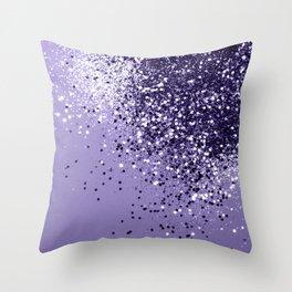 ULTRA VIOLET Glitter Dream #1 #shiny #decor #art #society6 Throw Pillow