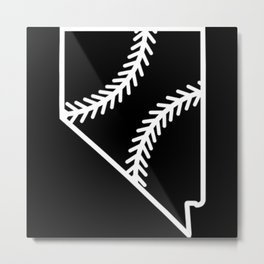 Nevada Baseball USA State Pride Metal Print